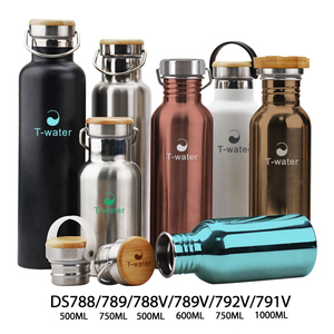 Custom logo double wall insulated 304 stainless steel vacuum flask water bottles