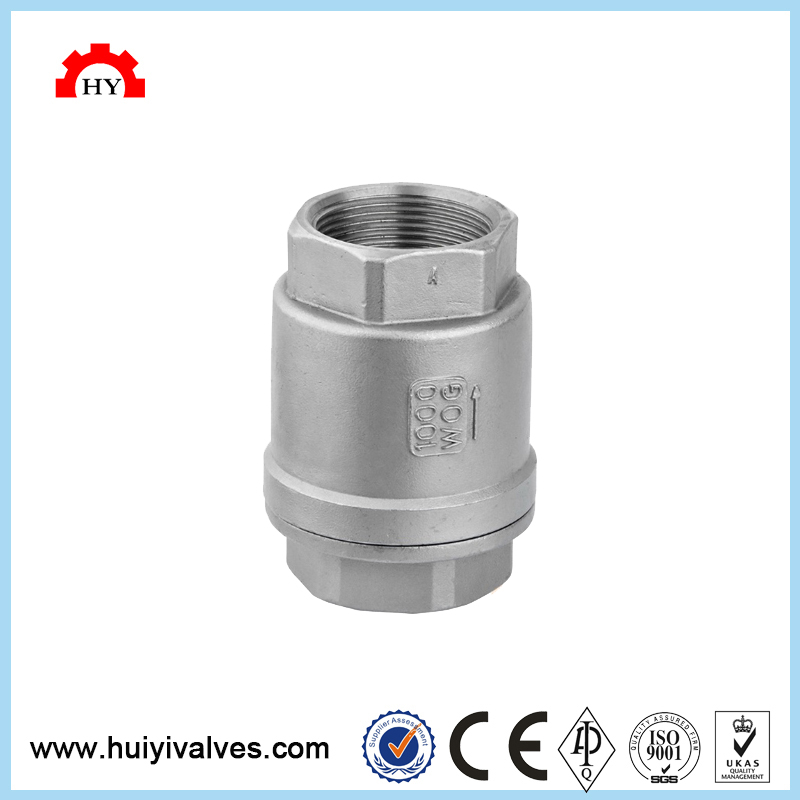 China casting steel 304 low pressure tilting disc hot water flat check valve