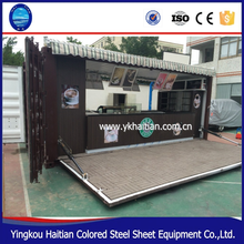 Semi automatic hydraulic system Shipping arabic Container Coffee Shop For Mobile cafe bar design and food Kiosk booth