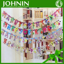 high quality custom party hang decoration hanging paper letter banner