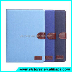 2015 New Pop Folio Denim Jeans Stand Case For iPad Air 2 iPad 6