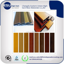 NEW 3D wooden grain effect aluminium sublimation transfer powder coating paint