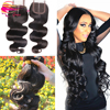 Wholesale virgin human hair bundles with lace closure accessories for women