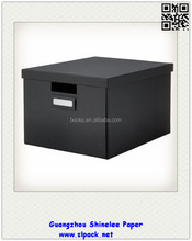 popular foldable paperboard Mache Square Box/drawings storage boxes with lids