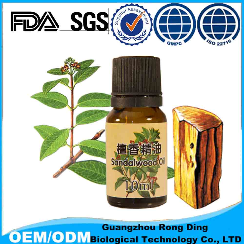 India 10 ml Distillation whitening Sandalwood essential oil with soothing nervous tension and anxiety