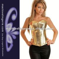 ML4020 Fashion Full Body Latex rubber Yellow Corset Bustier