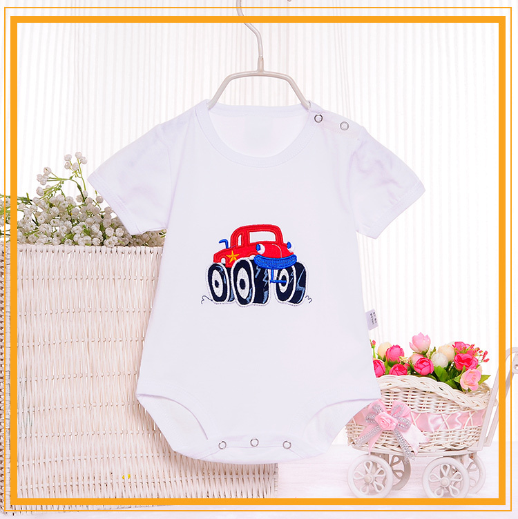Japanese high quality cute and colorful newborn infants short sleeve newborn baby clothing
