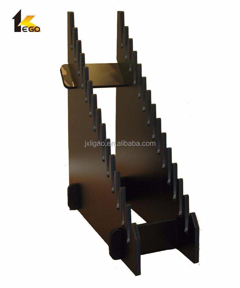 Customized wooden floor display rack for retail store