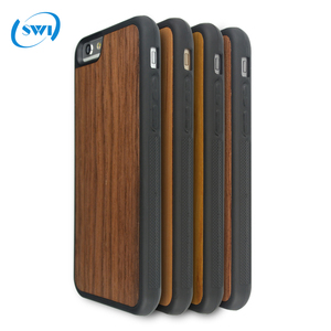360 degree full covered OEM Blank real Wood Case For iPhone 6 6s,Genuine Wood TPU Phone Case for iphone 6 6s