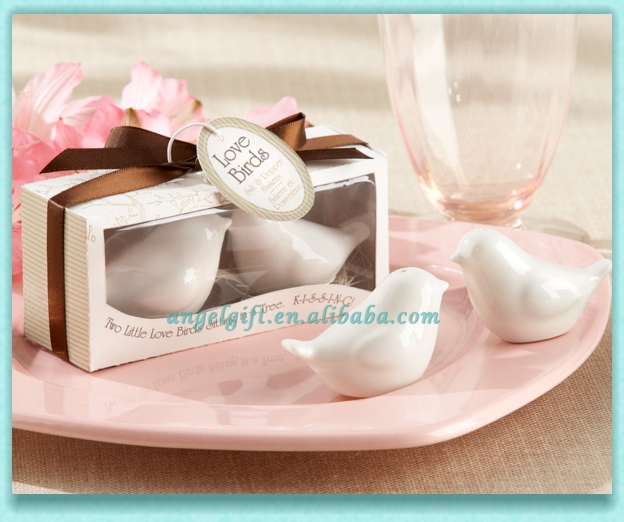 Wedding Gifts Love Birds in the Window Ceramic Salt and Pepper Shakers
