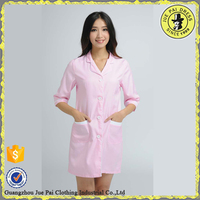 Fashion Pink Women Beautician Uniform