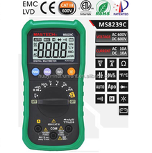 MS8239C 4000 Counts Auto Range Digital Multimeter DMM 4 - Digit LCD Display Test Duty Circle