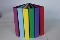colorful factory manufacture ring binder with clips