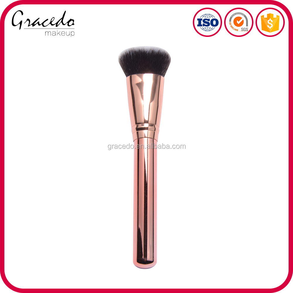 2016 New Arrival Customized Shenzhen Black Metal Hand Cosmetics Face Makeup Brush