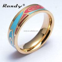 Fine Costume Jewelry 18K Gold Plated Best Enamel Rings