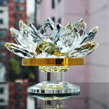 PuJiang hot selling Clear Crystal Lotus for Buddhism gift
