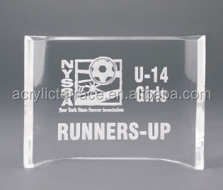 waterfall acrylic trophy lucite decoration