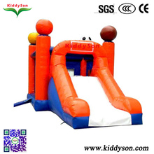 Unique design inflatable jumping castles with slide for kids