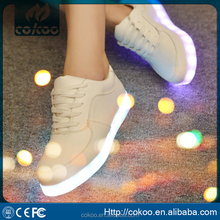 PU leather basketball cheap price glow LED Light sneakers/adults light led shoes