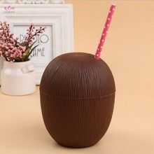 Hawaiian Party Plastic Coconut Shell Cup Wholesale Coconut Cup