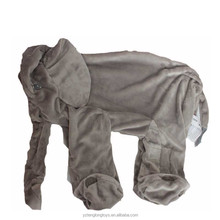 Wholesale giant elephant plush toy skin