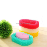 Soap box in sponge soap dish soap holder and bath sponge