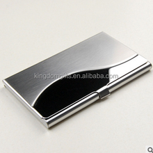 Stainless steel business card case with engrave logo
