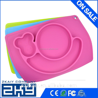 Hot Kitchen Accessories Children Silicone dinner plates Partition plate dishes and plates sets fruit bowl