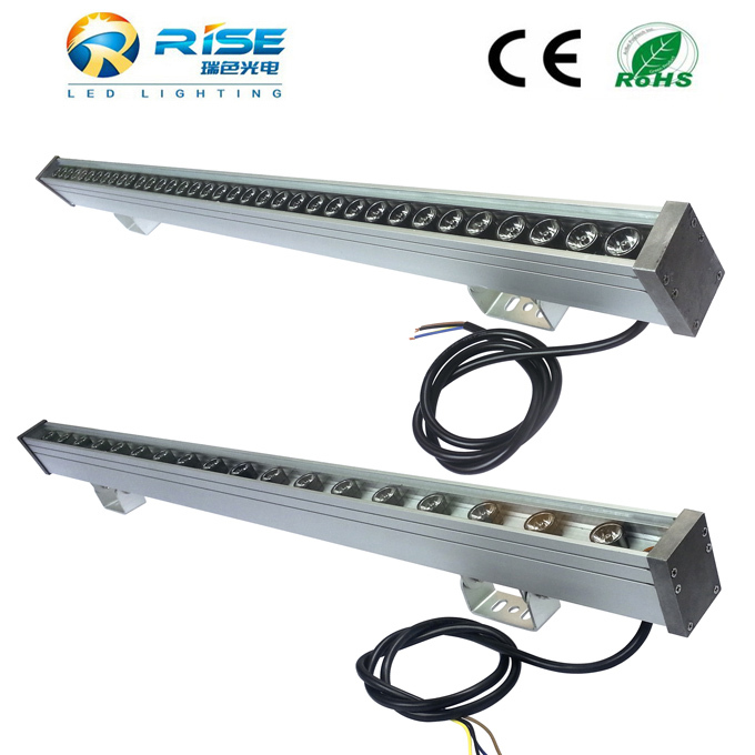 Good quality 1m 24V 24W RGB rotating Color LED Wall Washer Light/ Linear Bar Light Outdoor with DMX Driver