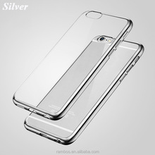 Soft Cellphone Protective Electroplating Transparent TPU Skin Cover Case for Samsung Galaxy A710 A510