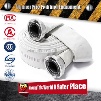 2.5 inch Well operational PU line fire Hose with fire hose couplings