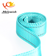 Custom soft and durable reflective coated Nylon webbing for collar, leash