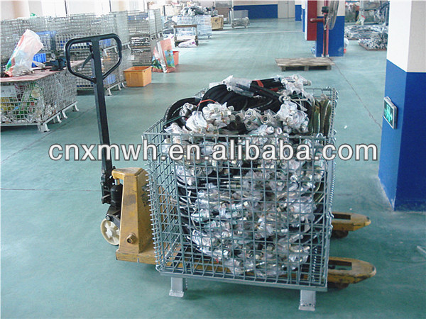 Warehouse wire mesh crate
