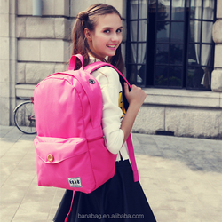 2016 Trendy Women Bag Backpack Pink Bags for Girls with Button
