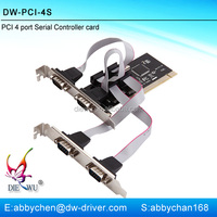 PCI to 4 Port Serial Expansion Card pci serial port card with PCI 60806A chipset