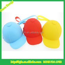 Hot style hat designed silicone change purse,coin bag,drawstring coin bag