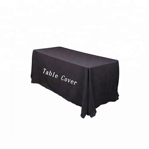 225 & cheap customized 6ft 8ft tradeshow table cloth linens