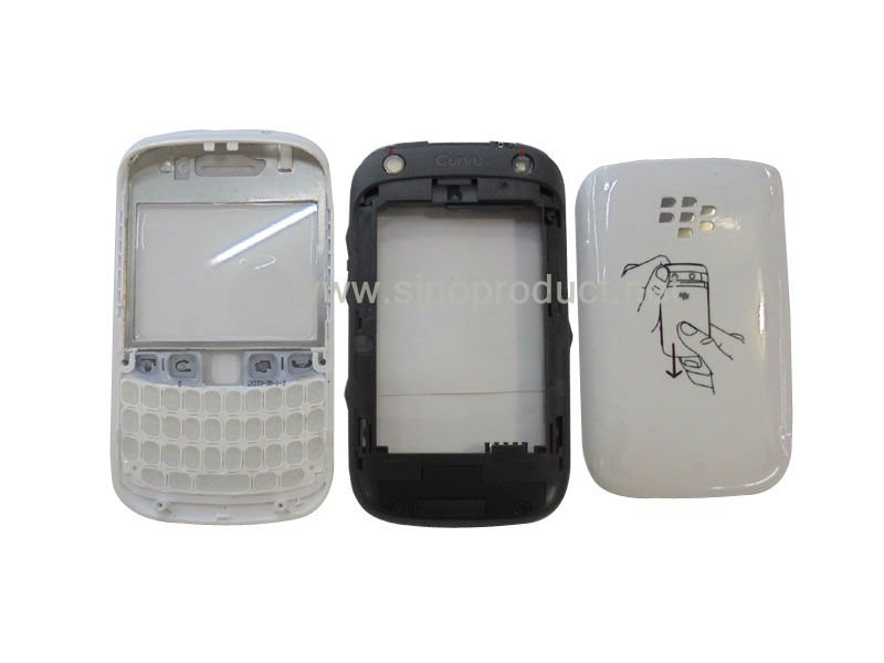 For Blackberry Curve 9320 Full Housing Complete With Keypad & battery door & faceplate &small parts