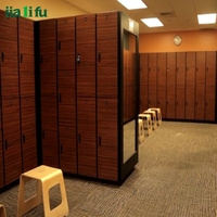 Fireproof compact laminate HPL bench room locker