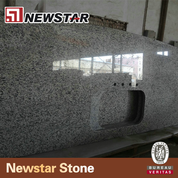 Newstar polished tiger skin white cheap kitchen cabinets countertops