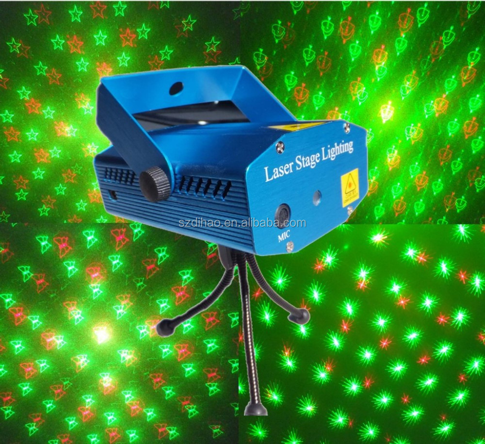 DIHAO Tech mini laser stage lighting price/ laser light show projector
