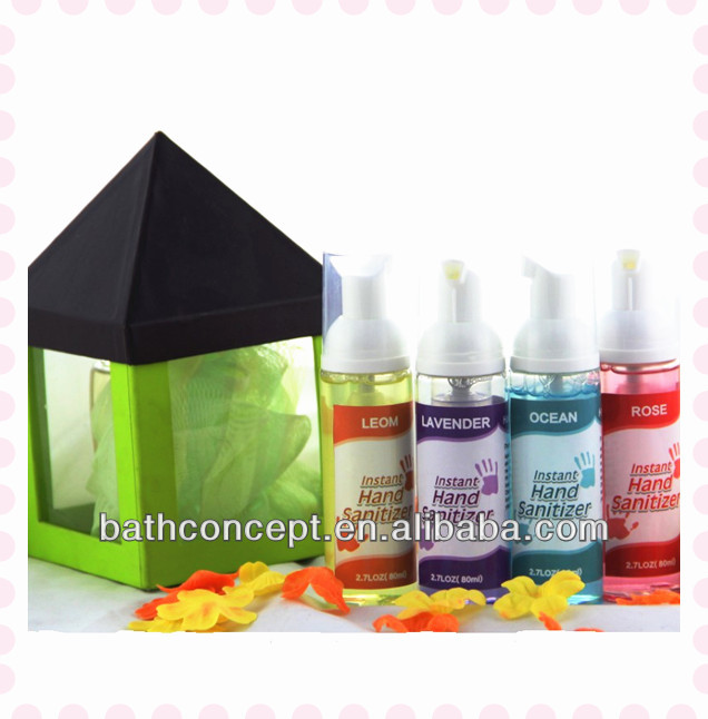 2017 80ml alcohol gel hand sanitizer with dispenser