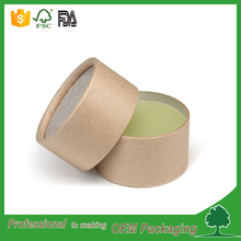 eco friendly food grade packaging brown kraft round cardboard deodorant stick packaging tube/paper container shenzhen port fancy