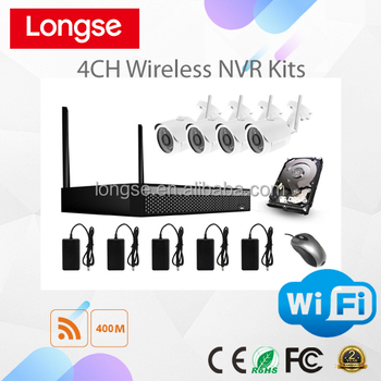 Longse 4CH 1MP 720P WIFI NVR WIFI IP Camera&NVR Kit WIFI2004D1S100