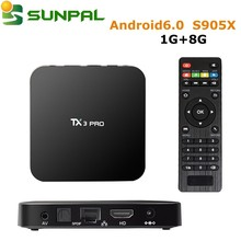 2017 Newest TX3 Pro Quad core S905X root access Android 6.0 tv box smart digital media player for wholesaling
