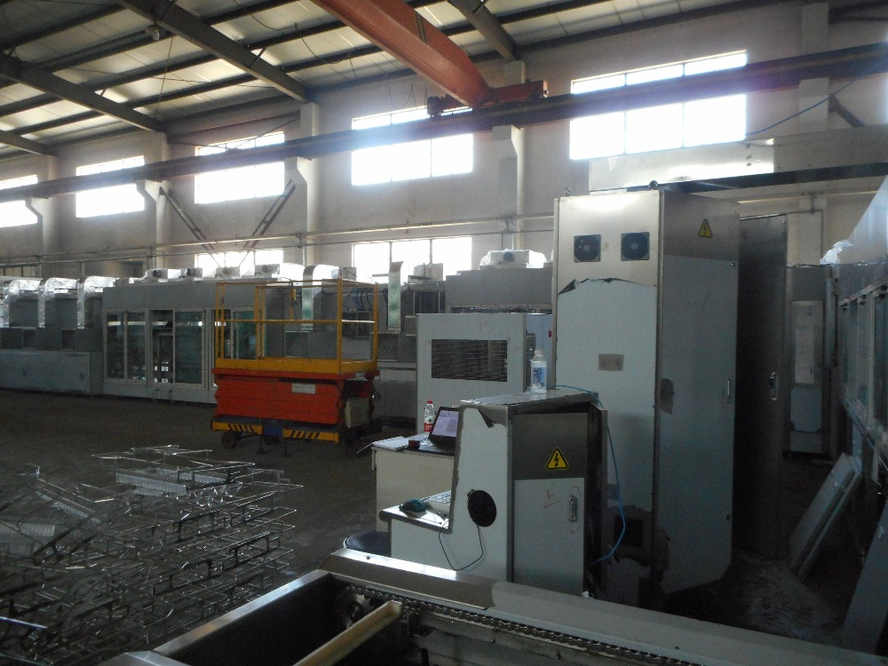 Automatic ultrasonic cleaning coating machine for optical lenses