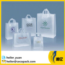HDPE and LDPE flexi loop handle plastic carrier shopping bag