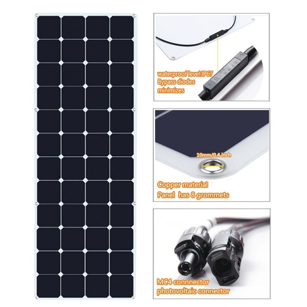 OEM customize power voltage size 150w 12v solar panel with professional solution