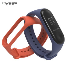 mijobs original strap for miband 3 silicone smart watch Bracelet strap mi band 3 Wristband