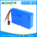 Rechargeable 12v 12Ah DC 18650 Battery Pack